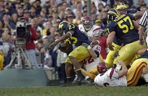 2004 Rose Bowl, Chris Perry, Michigan, USC