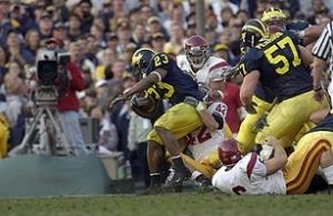 2004 Rose Bowl, Chris Perry, Michigan, USC