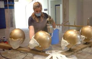Notre Dame Football Helmets