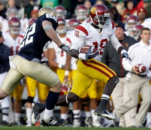 college football, USC, Notre Dame Football, Damian Williams