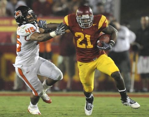 college football, USC, Oregon State, Allen Bradford
