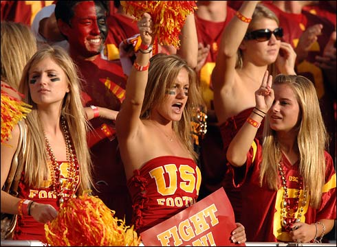 College football, USC, co-eds, cheerleaders